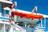 Lifeboat hanging on a big ship — Stock Photo