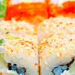 Macro sushi with different fillings — Stock Photo #41858215