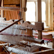 Russian loom in a village house — Stock Photo