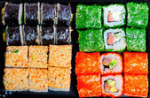 Set of different tasty sushi with different fillings — Stock Photo