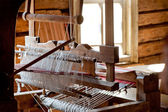 Russian loom in a village house — Foto de Stock