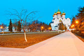 Evening shot of an Orthodox church in Yaroslavl — Stock Photo