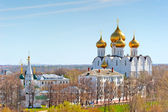 View urban architecture of Yaroslavl from above — Стоковое фото