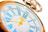 Beautiful pocket watch with gold hands — Stok fotoğraf