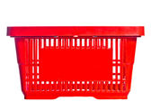 Empty red basket from the supermarket — Stock Photo