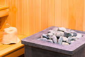 Elements steam room sauna closeup — Stock Photo