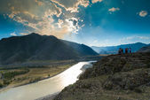 View of the valley from the top Altai — Stock Photo