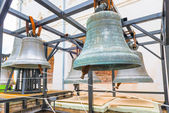 Large ancient church bells in the museum — Stock Photo
