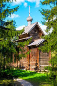 Russian traditional old church in the woods — Stock Photo