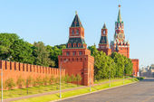 Famous Kremlin in Moscow on a sunny morning — Stock fotografie