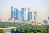 Modern skyscrapers office buildings in Moscow City — Stock Photo