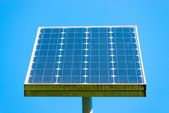 Solar panel on a background of clear sky — Stock Photo