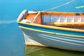 Stern of a boat on the lake closeup — Stock Photo
