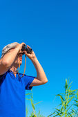 Search prey in the blue sky — Stock Photo