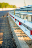 Macro fence road at dawn — Stock Photo