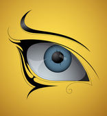 Eye tattoo — Stock Vector