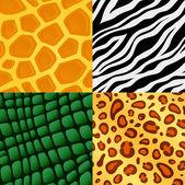 Seamless animal skin pattern — Stock Vector