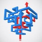Maze concept — Stock Vector #34356445