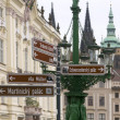 Prague in directions — Stock Photo