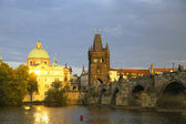Prague from Vltava river — Stock Photo