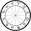 Vector de stock : Horoscope chart