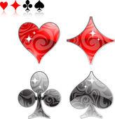 Vector illustration of card symbolic — 图库矢量图片