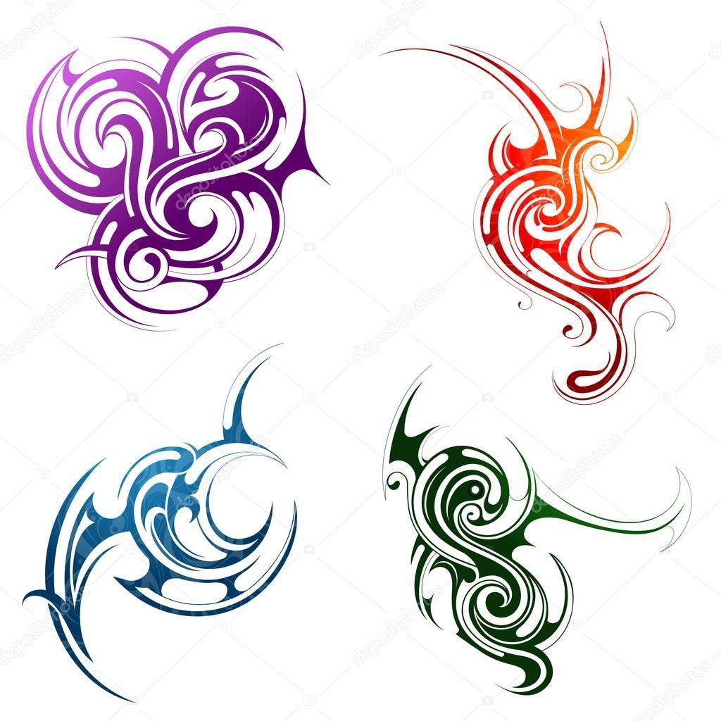 dessin tatouage air et feu