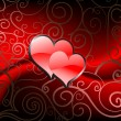 St. Valentines Day Greeting card design — Imagen vectorial