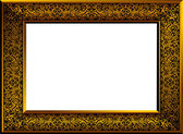 Golden frame with copyspace — Stock Vector