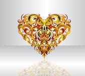 Heart-shape illustration — Stock Vector