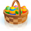Easter basket — Stock Vector #38418569