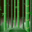 Bamboo forest at nighttime — Stock Vector