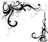 Lente wervelingen met plantkunde elementen — Stockvector