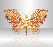 Butterfly vector illustration — Vector de stock