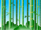Bamboo forest in daylight — Stock vektor