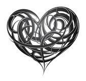 Heart shape original decoration — Stock Vector