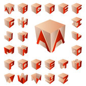 3D abc — Stockvektor