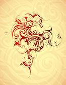 Artistic tattoo shape — Stock Vector