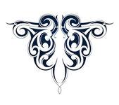 Tribal tattoo Maori origin — Stock Vector