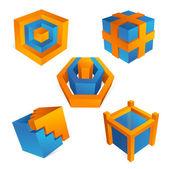 Elementos de design 3d — Vetor de Stock