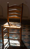 Chair in church — Stock Photo