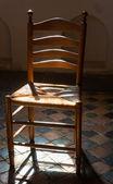 Krzesło w kościele — Zdjęcie stockowe