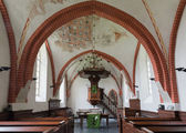 Interior of church Den Andel — Stock Photo