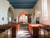 Interior de la iglesia de leermens. — Foto de Stock