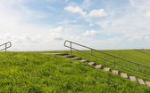 Dike and Stairs Texel — Stock Photo