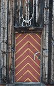 Hytt dörren i norge — Stockfoto