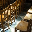 Chairs in Church — Stockfoto