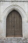 Oude kerk deur — Stockfoto
