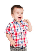 Little baby boy crying — Stock Photo