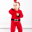 Santa Claus baby girl — Stock Photo